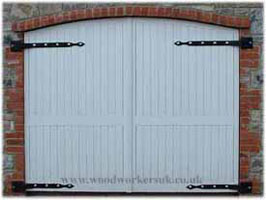 Bespoke wooden garage door manufacturing service