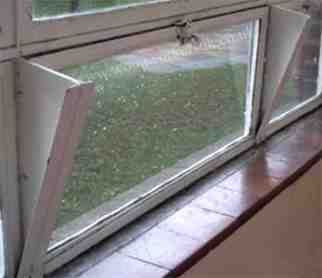Example of a hopper from a hopper window