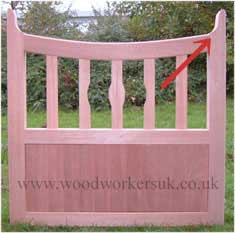Joggles on a wooden gate