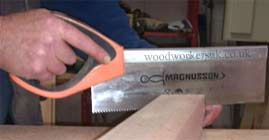Tenon saw - Used for cutting the shoulders of tenons