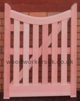 Our Curved headed gate featuring a solid head to protect the boarding