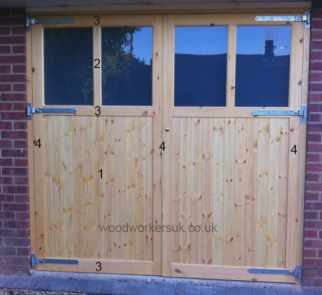 How to paint wooden garage doors