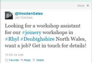 Find us on Twitter @woodengates