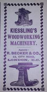 Kiesslings Woodwork Machinery advert