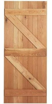 An example of a ledged & braced door