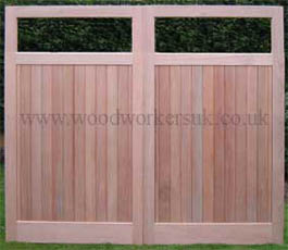 Made to measure wooden garage doors