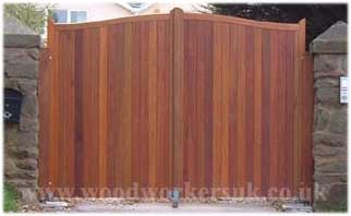 Wedged morticed and tenon jointed wooden gates