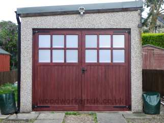 After new garage doors fitted