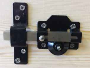 Lock/latch version of the Perrys long throw gate lock
