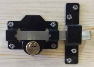 Rear view Perrys double locking gate lock