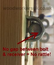Stopping a padbolt from rattling