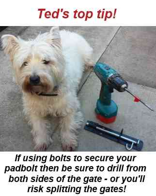 Teds top tip for fitting a padbolt