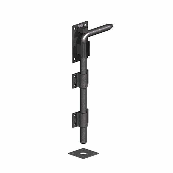 "450mm/18"" Garage Door Dropbolt - Black on Galv"
