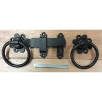 "Ring Gate Latch 150mm/6"" - Black-0"