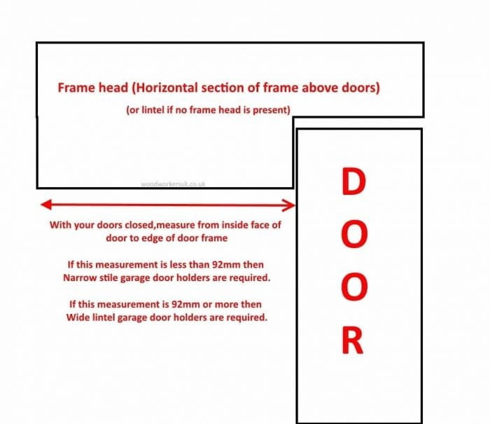 What size garage door holder do I need