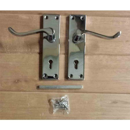 150mm Victorian Scroll Lever Lock Chrome Plated Handles-0