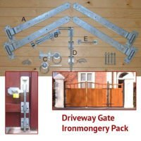 Driveway Gate Ironmongery Pack (Black on Galv)-0