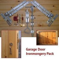 Garage Door Ironmongery Pack (Black on Galv)-0