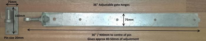 Adjustable Hook & Band Gate Hinges - Galvanised (Pair)-1291