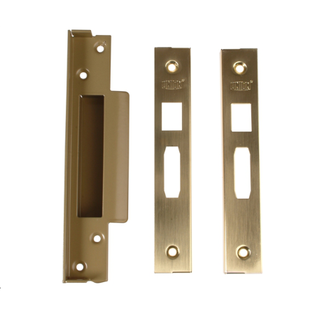 StrongBOLT 2200S BS 5 Lever Mortice Sashlock Satin Brass 68mm Box + 13mm Rebate kit (Optional)-1092