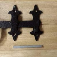 """200mm/8"""" Large Heavy Duty Twisted Ring Gate Latches (Black)-0"""