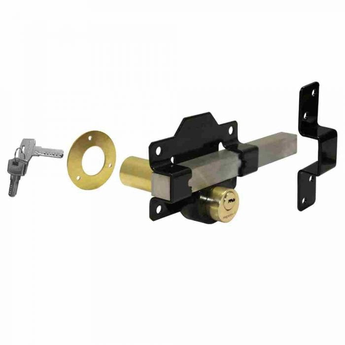Double locking long throw gate lock Perry