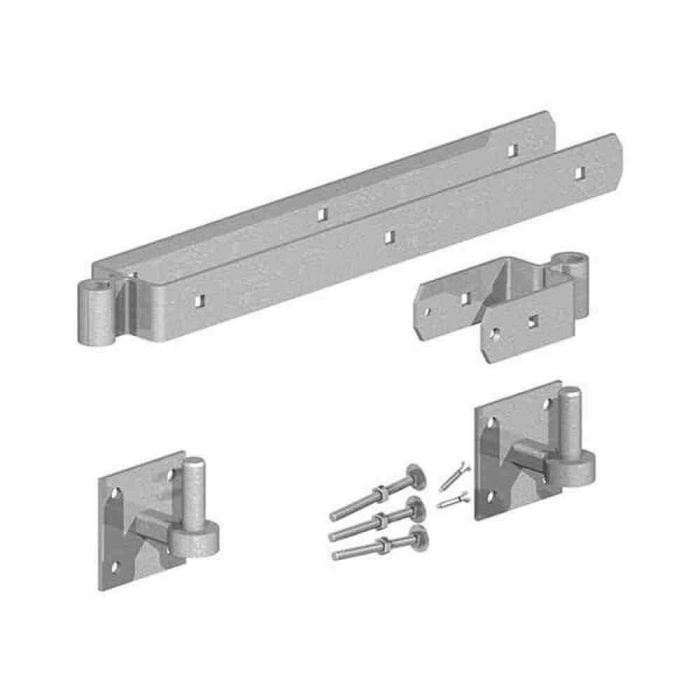 Field Gate Hinge Sets on 4 inch square plates Galvanised