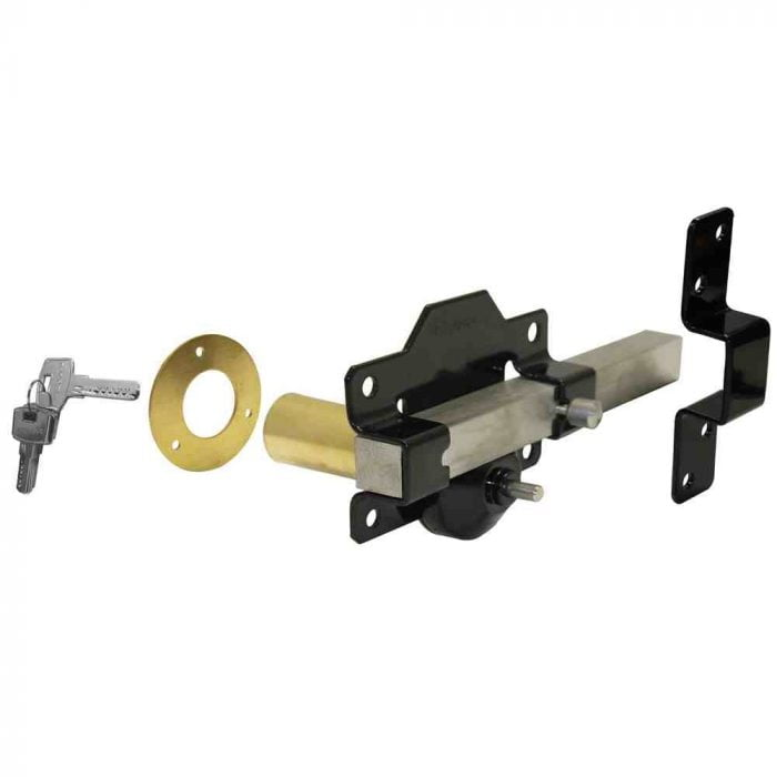 Perrys single locking long throw gate lock