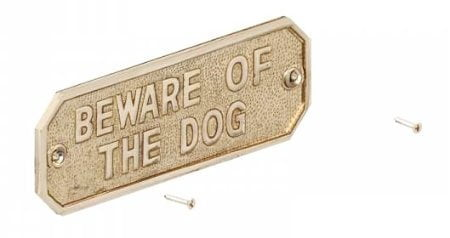 Beware Of The Dog Sign-0