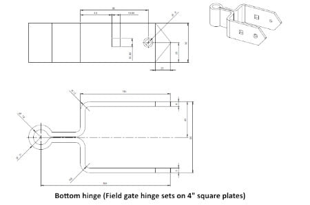 Field Gate Hinge Sets-1225