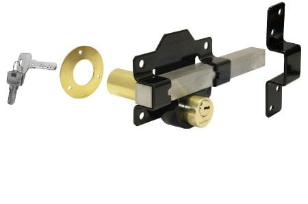 Perry Double Locking Long Throw Gate Locks (Key Lockable From Both Sides)-0