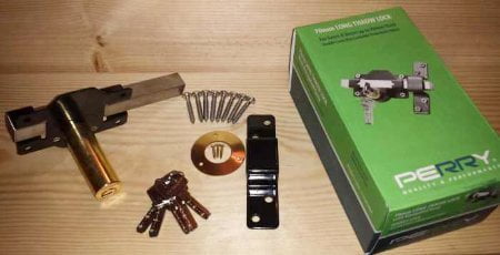 Perry Double Locking Long Throw Gate Locks (Key Lockable From Both Sides)-1241