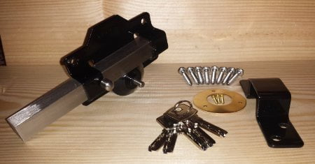 Perry Single Locking Long Throw Gate Locks (Key Lockable One Side, Latch Bolt Other Side)-1260