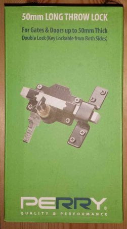 Perry Double Locking Long Throw Gate Locks (Key Lockable From Both Sides)-1246