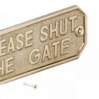 Please Close The Gate Sign-0