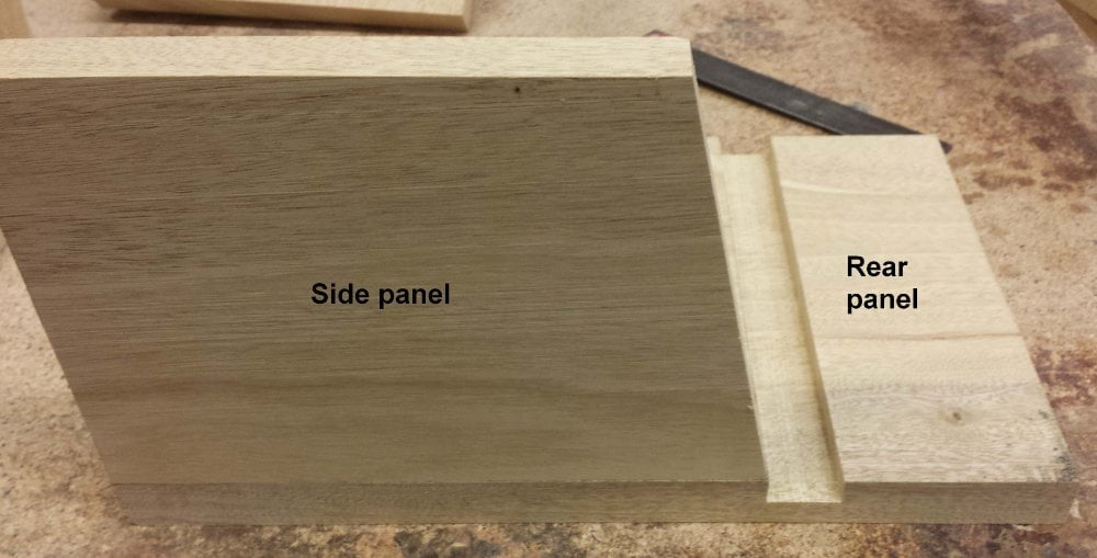 Nesting bird box groove cut rear panel