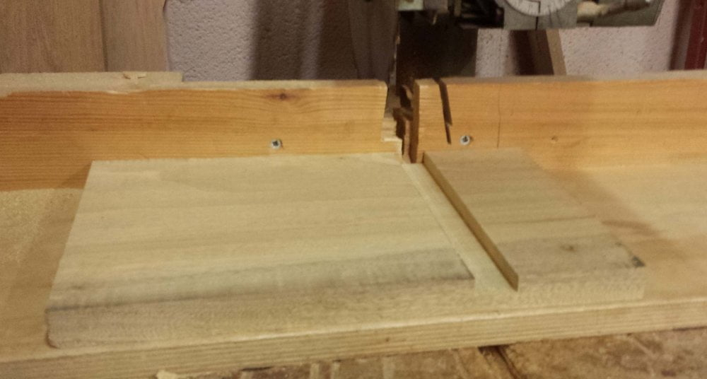 Nesting bird box groove cut radial arm saw