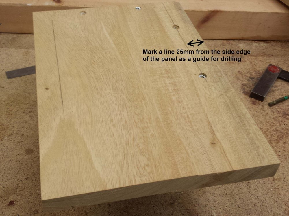 Rear panel to base sides assembly for Nesting bird box