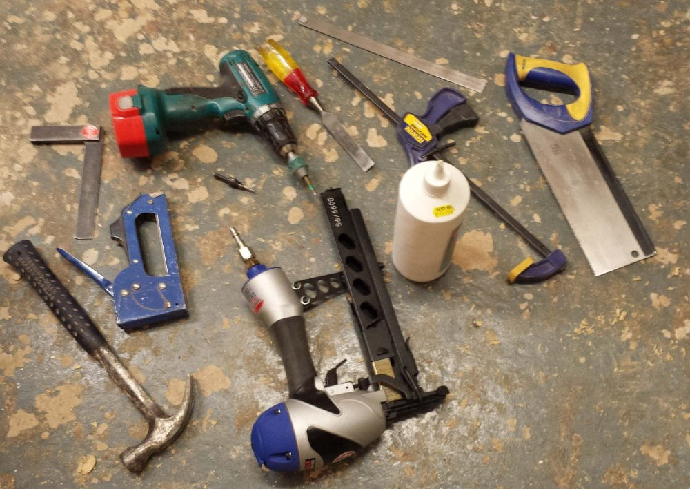 Tools required to build a bird box