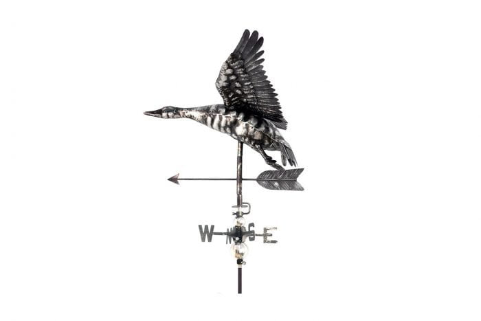 3D Flying Duck Weathervane With Garden Stake-0