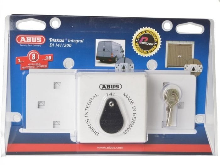 Abu14126C Integral Van Lock White 141/200 + 26/70 With 70Mm Series 26 Diskus Padlock-1763