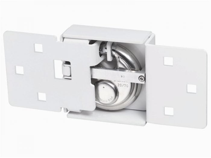 Abuvanlock Integral Van Lock White 141/200 + 23/70 With 70Mm Series 23 Diskus Padlock-1585