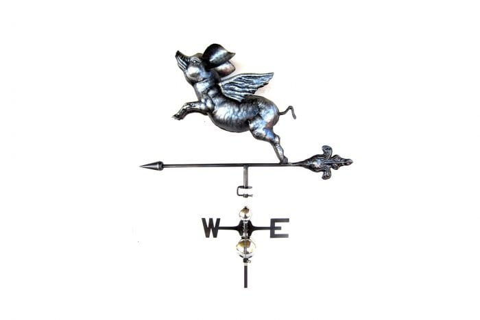 3D Flying Pig Weathervane With Garden Stake-0