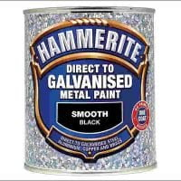 Hammerite Direct To Galvanised Metal Paint Black 750ml-0