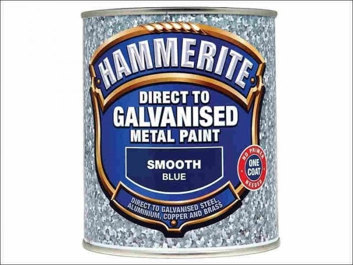 Hammerite Direct To Galvanised Metal Paint Blue 750ml-0