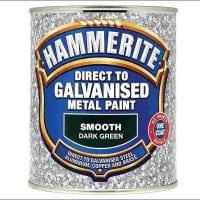 Hammerite Direct To Galvanised Metal Paint Dark Green 750ml-0
