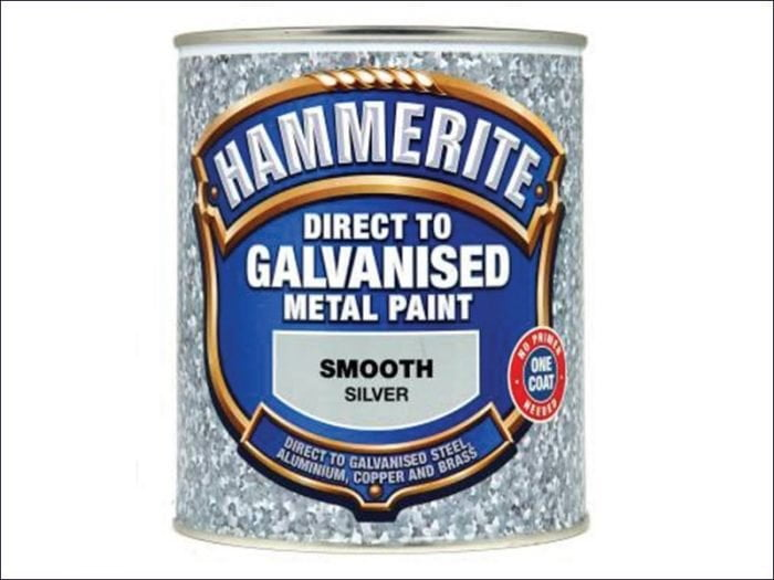 Hammerite Direct To Galvanised Metal Paint Silver 750ml-1426