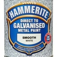 Hammerite Direct To Galvanised Metal Paint White 750ml-0