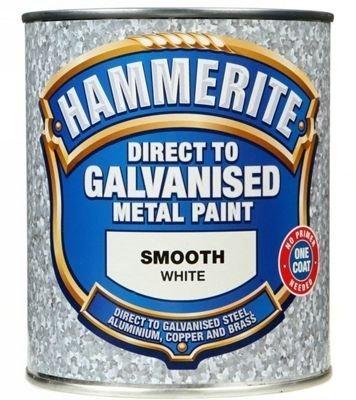 Hammerite Direct To Galvanised Metal Paint White 750ml-0