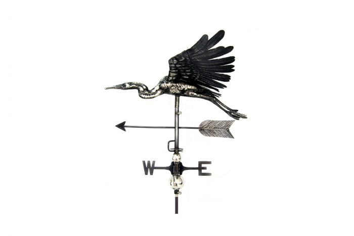 3D Flying Heron Weathervane With Garden Stake-0